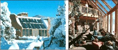 Солнечный дом Дугласа Балкомба. Общий вид, солнечная теплица.